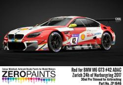 BMW M6 GT3 42 Zurich 24h Of Nurburgring 2017 Red Paint 30ml