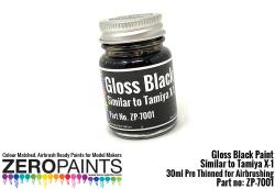Black Paint 30ml - Similar to Tamiya X1
