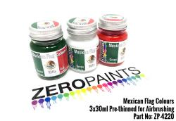Mexican Flag Coloured Paints 3x30ml