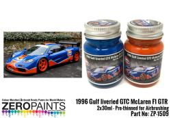 1996 Gulf liveried GTC McLaren F1 GTR Paint Set 2x30ml