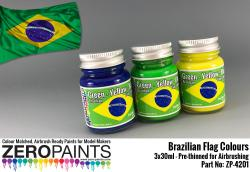 Brazilian Flag Coloured Paints 3x30ml
