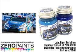 Light Blue / Dark Blue Paint for Chevrolet Cruze 1.6T 2012 WTCC 2x30ml