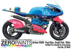 Britten V1000 - Pearl Blue - Bright Pink - White Paints 3x30ml