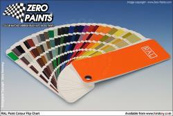 RAL Paints Colour Chart (European Colour Range Fan)