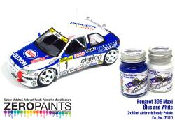 Peugeot 306 Maxi 1996 Rally Monte Carlo Blue/White Paint Set 2x30ml