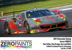 2017 Clearwater Racing Ferrari 488GTE Paint 4x30ml
