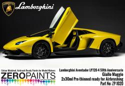 Lamborghini Aventador LP720-4 50th Anniversario 50° Giallo Maggio Paint Set 2x30ml