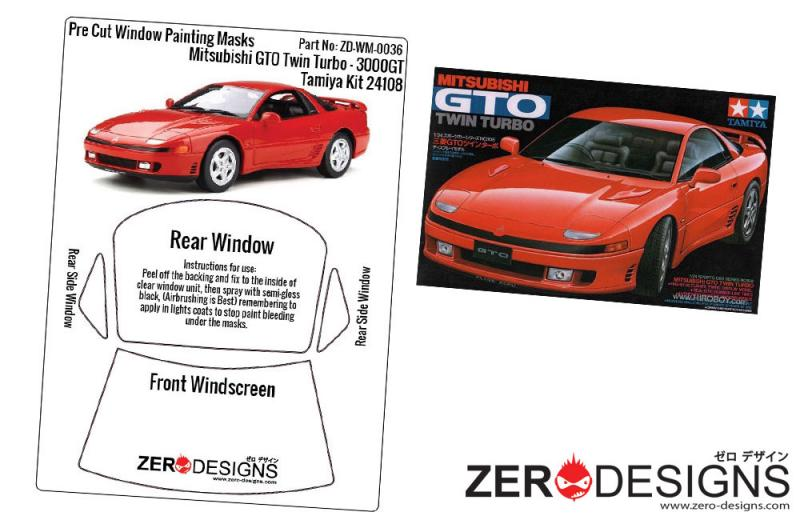 1:24 Mitsubishi GTO Pre Cut Window Painting Masks (Tamiya)