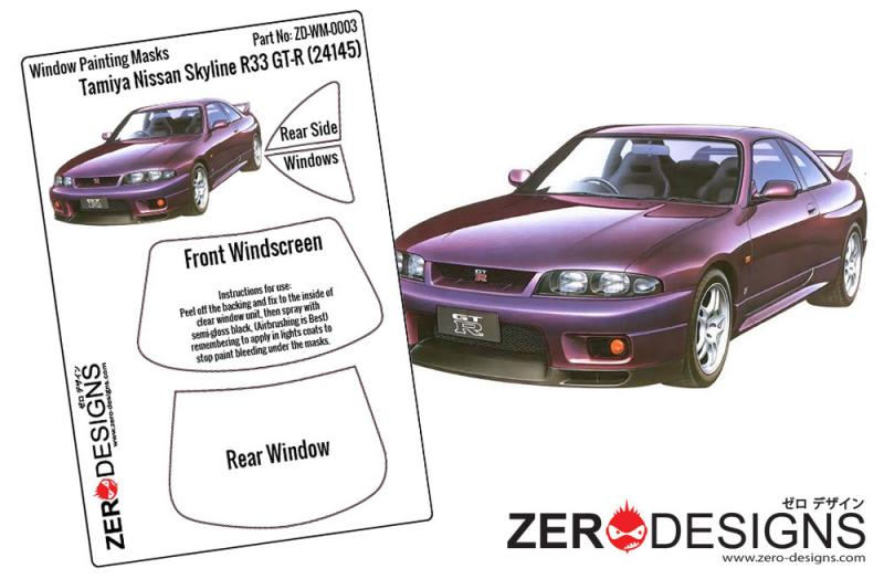 1:24 Nissan Skyline R33 GT-R Window Painting Masks (Tamiya)