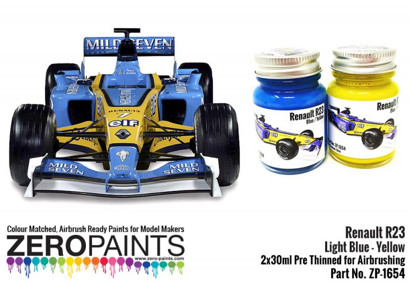 Renault R23 Blue/Yellow Paint Set 2x30ml