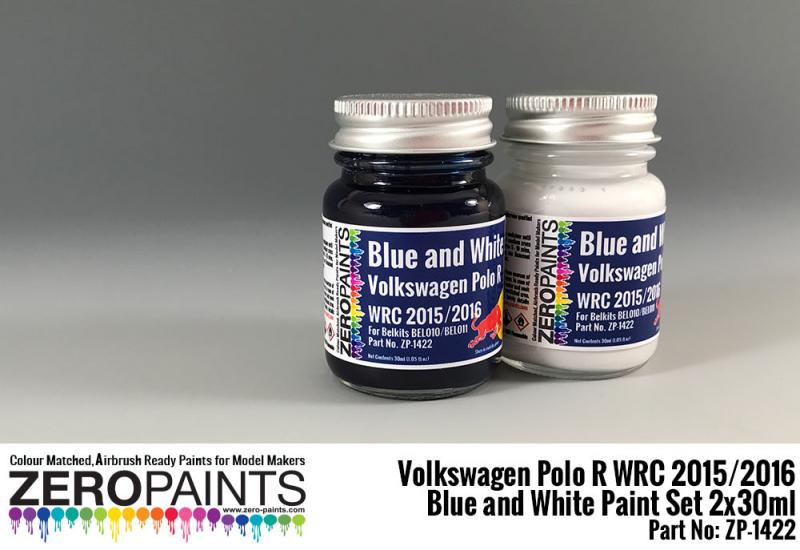 Volkswagen Polo R WRC 2015 - Blue and White Paint Set 2x30ml