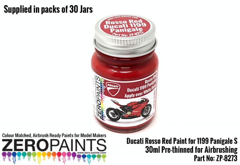 30ml Ducati Rosso Red Paint for 1199 Panigale S  - Bulk Pack 30 Jars