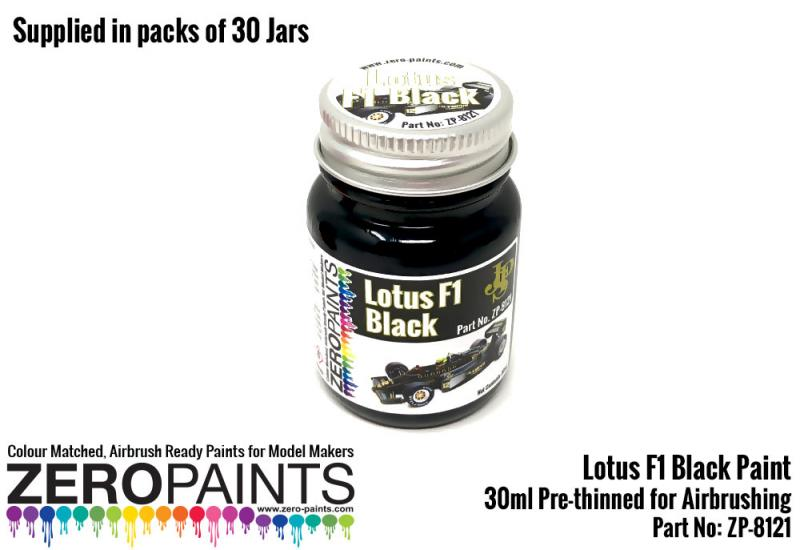 30ml Lotus F1 Black - Bulk Pack 30 Jars