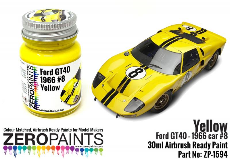 Ford GT40 - 1966 Car #8 Yellow Paint 30ml