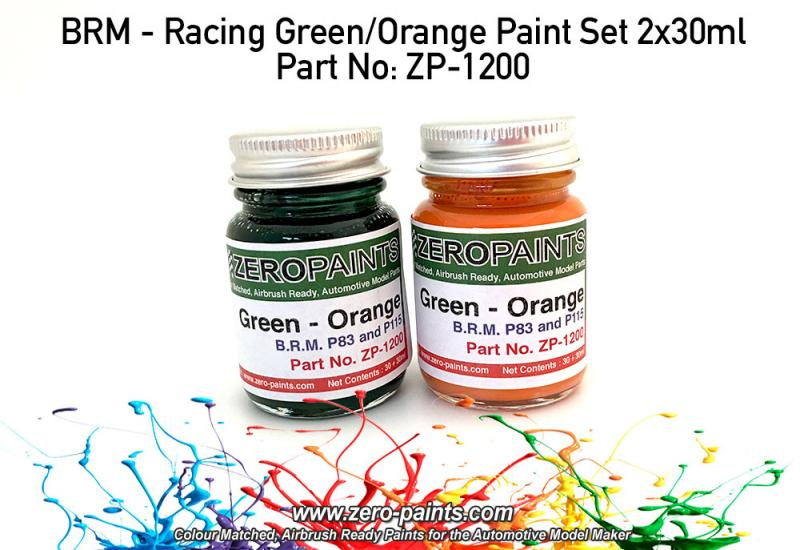 BRM - Racing Green/Orange Paint Set 2x30ml
