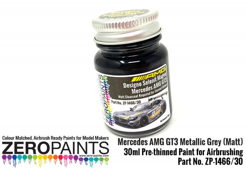 Mercedes AMG GT3 Metallic Grey (Matt) Paint 30ml