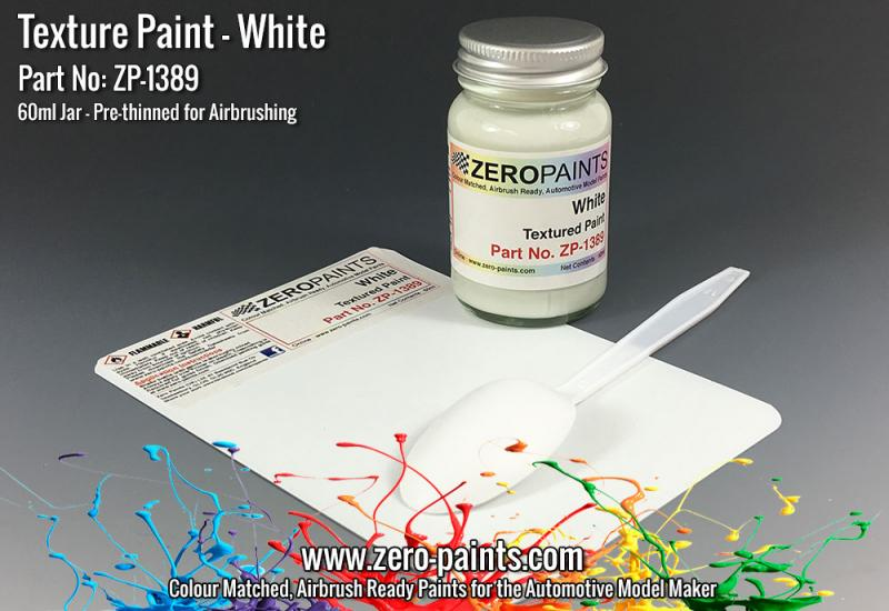 White Textured Paint - 60ml (Engines, Interiors etc)