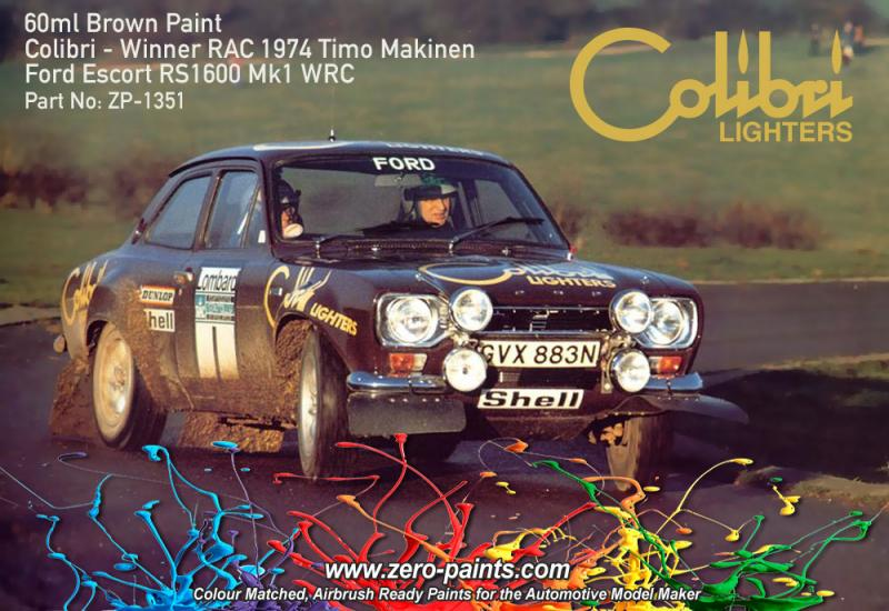 Brown Paint for Ford Escort MKI RS1600 (Colibri Lighters) 60ml