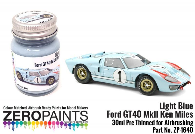 Light Blue Ford GT40 Mk II Ken Miles Paint 30ml