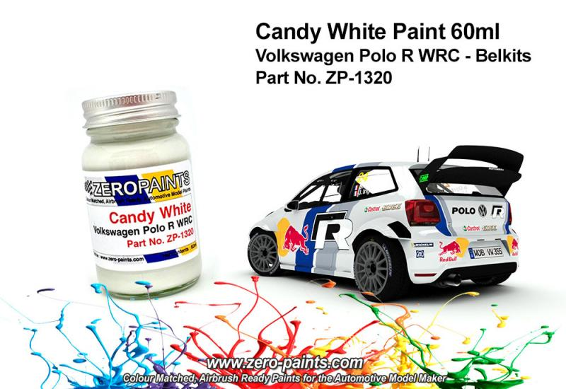 Candy White Paint for Volkswagen Polo R WRC - Belkits 60ml