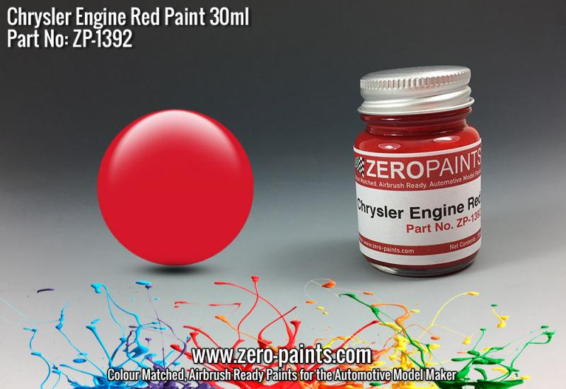 Chrysler USA Red Engine Paint 30ml
