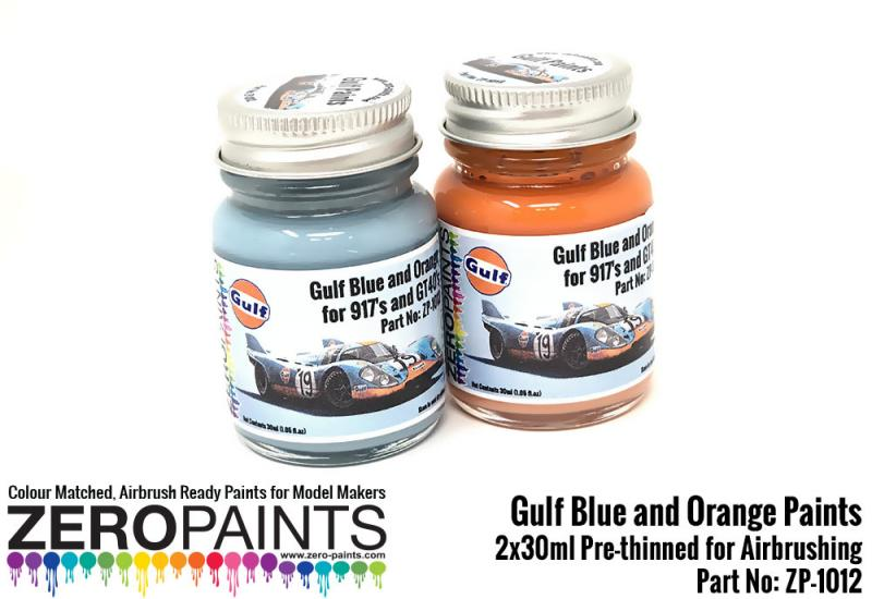 Gulf Blue and Orange Paints 2x30ml