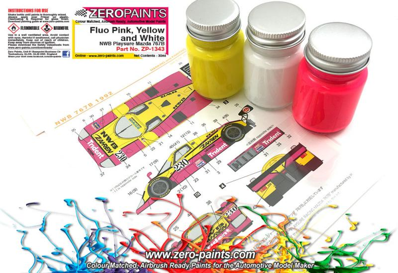 NWB Playsure Mazda 767B Paint Set 3x30ml