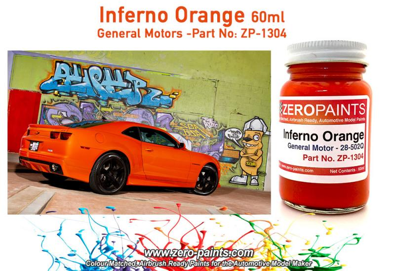 Inferno Orange (General Motors) Paint 60ml