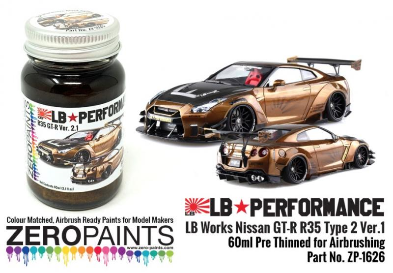 Black Gold Paint 60ml for LB Works Nissan GT-R R35 Type 2 Ver.1