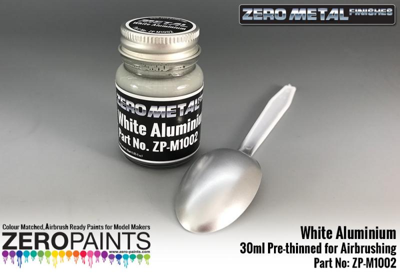 White Aluminium Paint - 30ml - Zero Metal Finishes