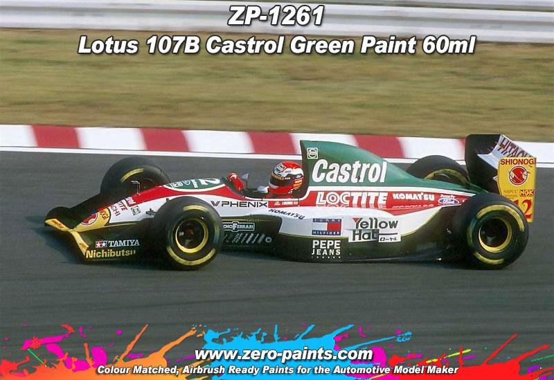 Lotus 107B Castrol Green Paint 60ml