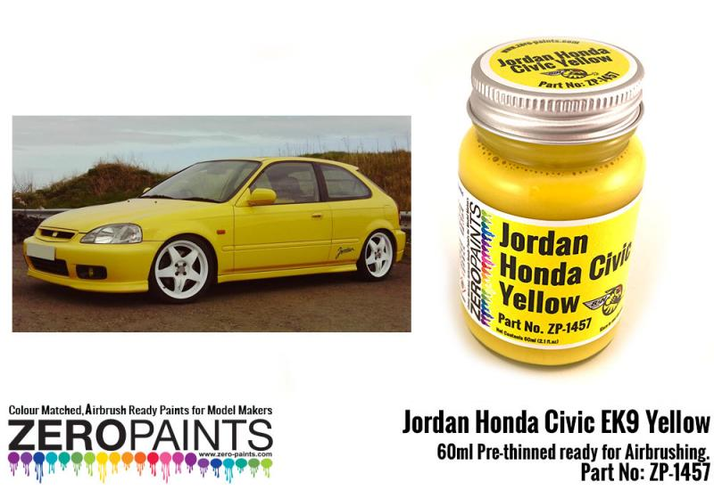 Jordan Honda Civic EK9 Yellow Paint 60ml