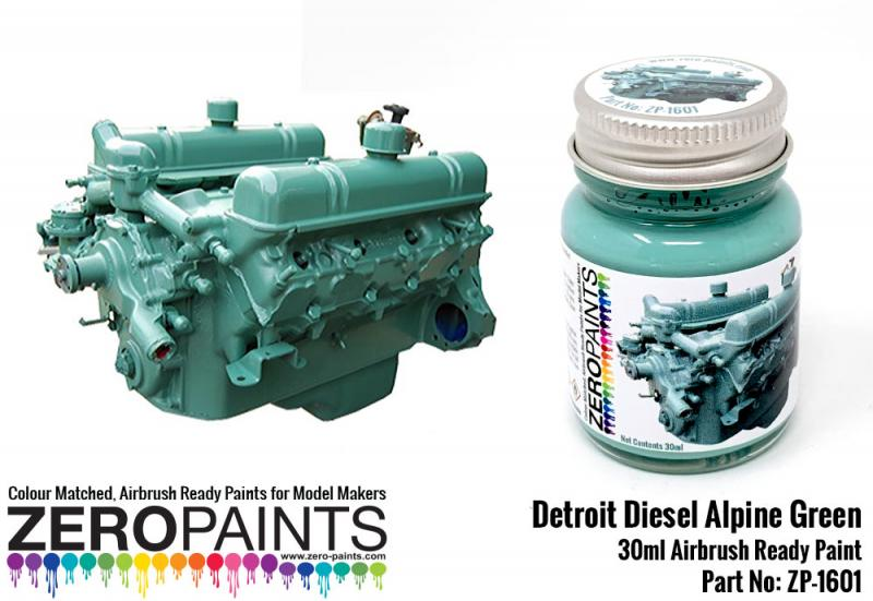 Detroit Diesel Alpine Green Paint 30ml