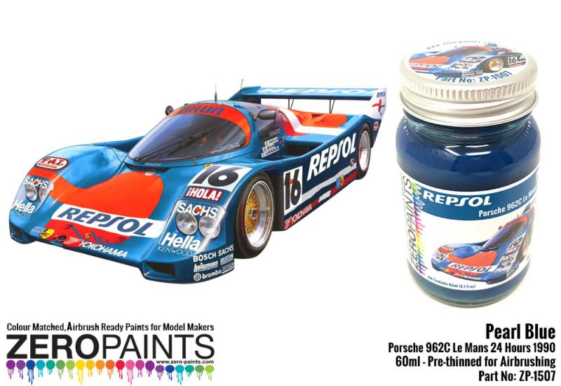 Pearl Blue Porsche 962C Le Mans 24 Hours 1990 60ml