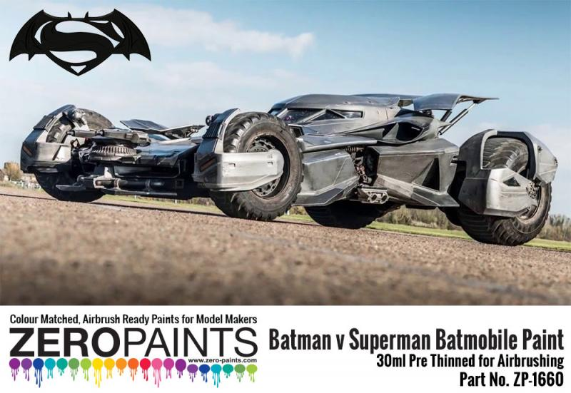 Batman v Superman Batmobile Metallic Grey Paint - 30ml