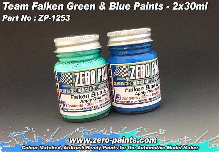 Team Falken Green and Blue Paint Set 2x30ml