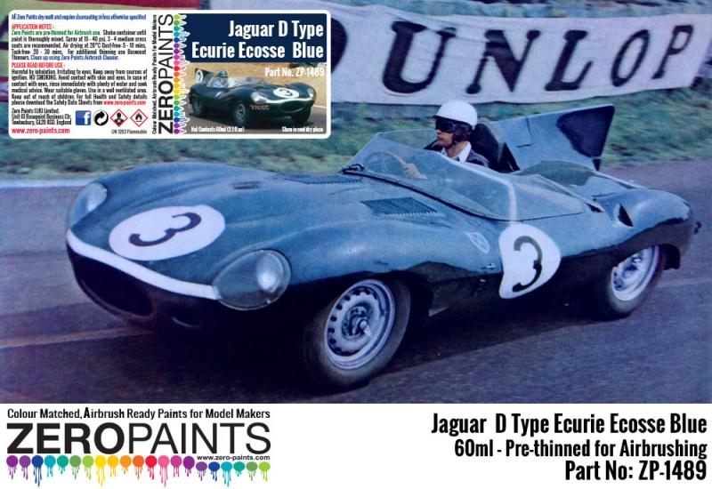 Jaguar D Type Ecurie Ecosse Blue Paint 60ml