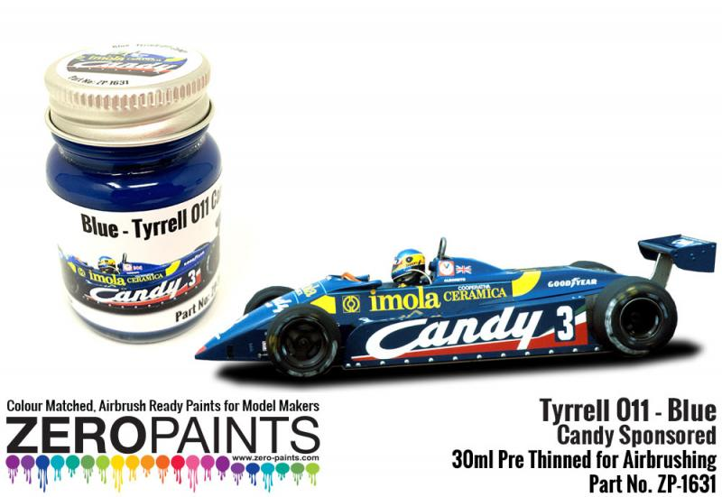 Tyrrell 011 Blue Paint Candy Sponsored 30ml