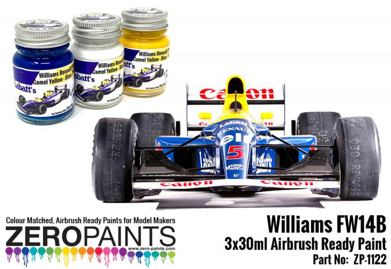 Williams FW14B Paint Set 3x30ml