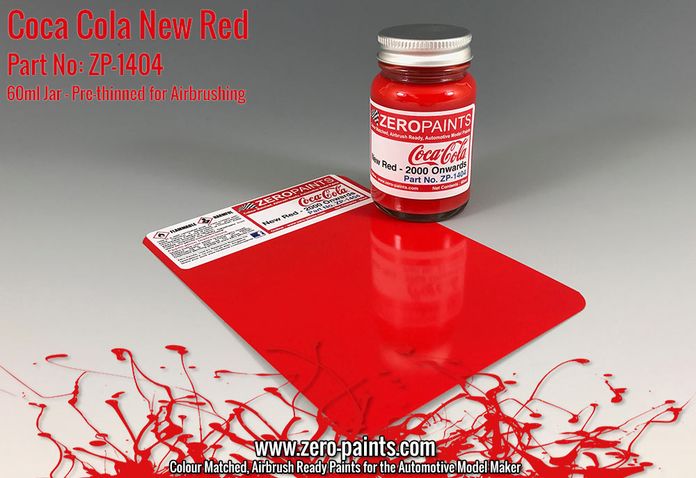 Coca Cola New Red Paint 60ml Zp 1404 Zero Paints