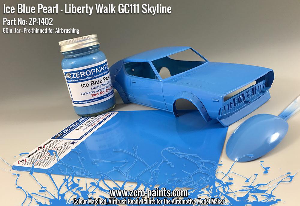 Ice Blue Pearl Paint For Liberty Walk Gc111 Skyline Ken