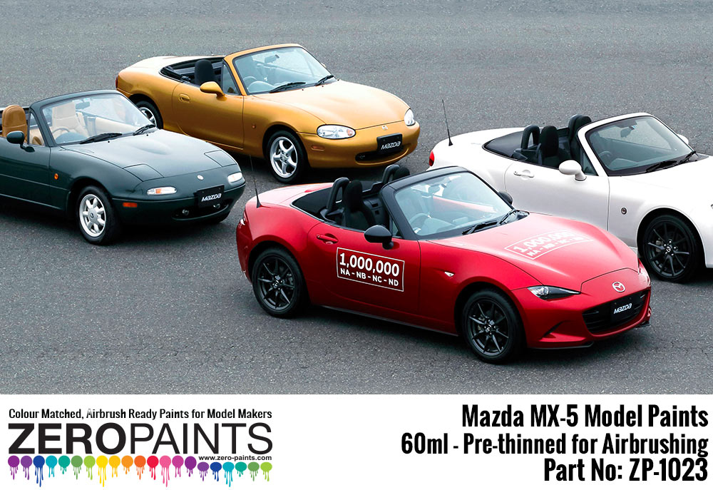 mazda mx 5 eunos na nb nc nd paints 60ml zp 1023. Black Bedroom Furniture Sets. Home Design Ideas