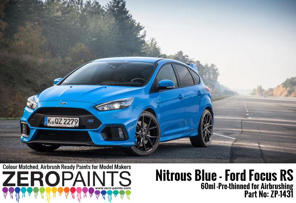 Nitrous Blue Ford Focus Rs Paint 60ml Zp 1431 Zero Paints