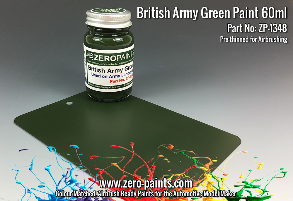 British Army Green (Land Rovers) Paint 60ml | ZP-1348 ...
