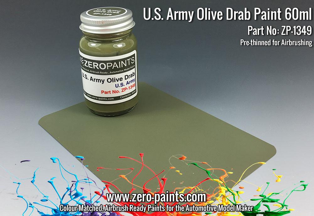 U S Army Olive Drab Paint 60ml Zp 1349 Zero Paints