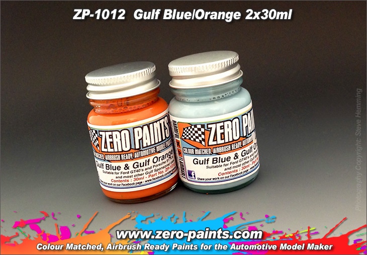 Gulf Blue And Orange Paints 2x30ml Zp 1012 Zero Paints